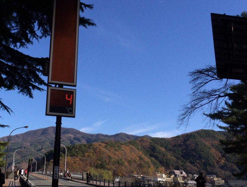気温を示す電光掲示板。記念にとっておいた。