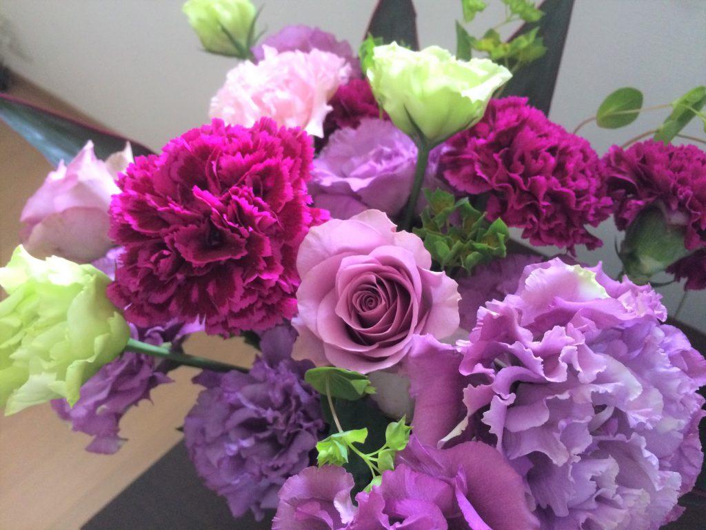 花のあるうるおい生活:退職時にいただいた花束