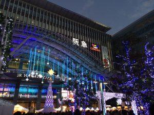 JR博多駅周辺はクリスマス仕様でした。