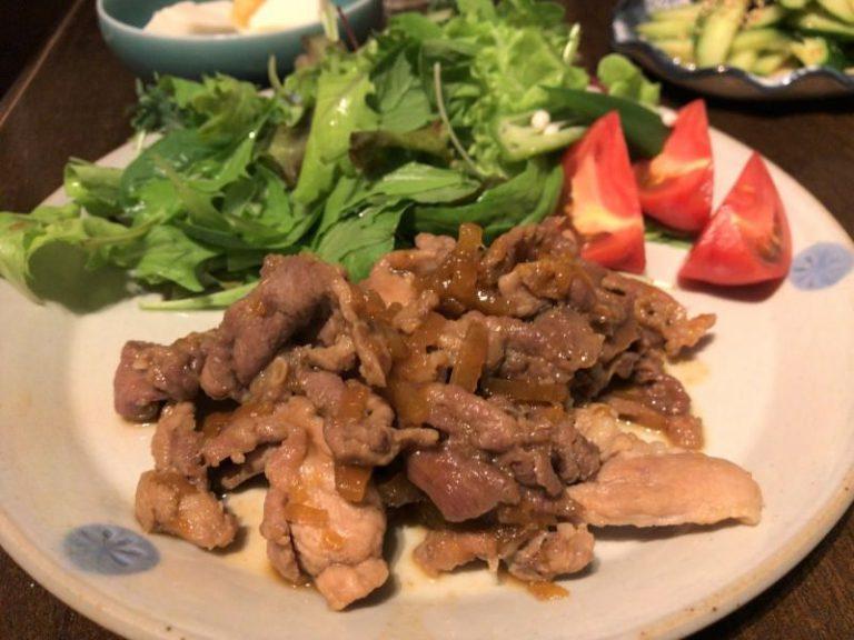豚肉のマーマレード炒め