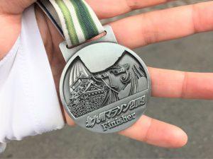 写真:北九州マラソン2019の完走メダル