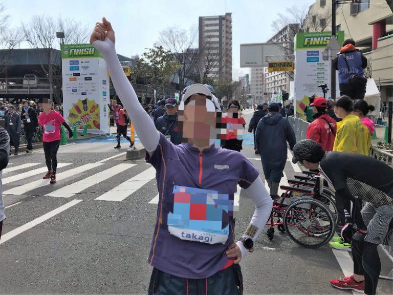 写真:北九州マラソン ゴール直後