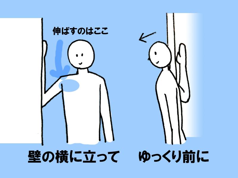 図:胸のストレッチ