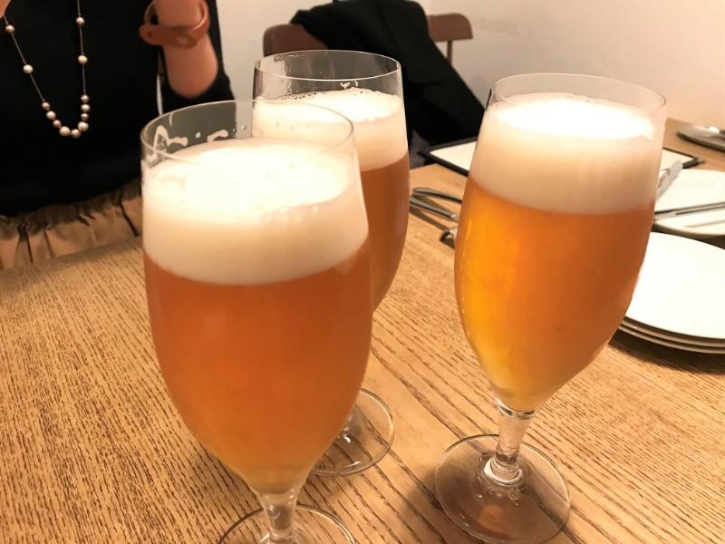 写真:糸島のレストラン noda 生ビール