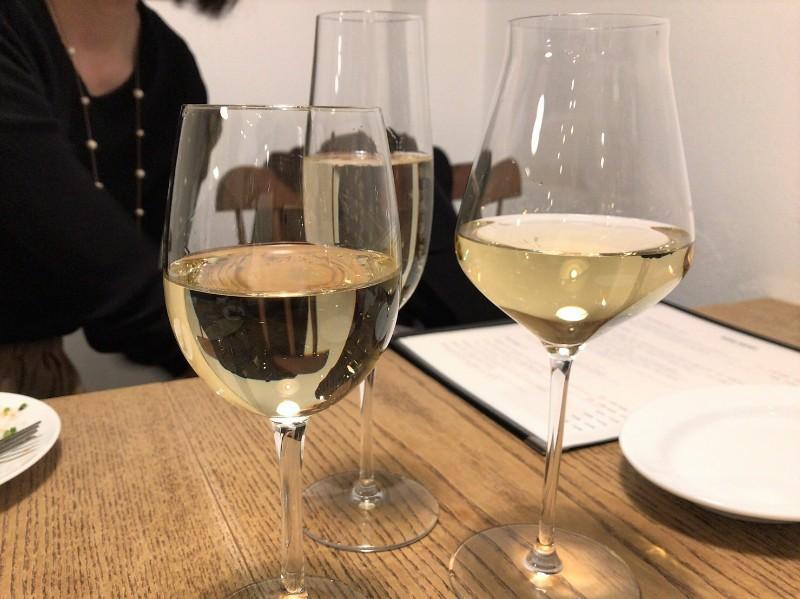 写真:糸島のレストラン noda 白ワイン