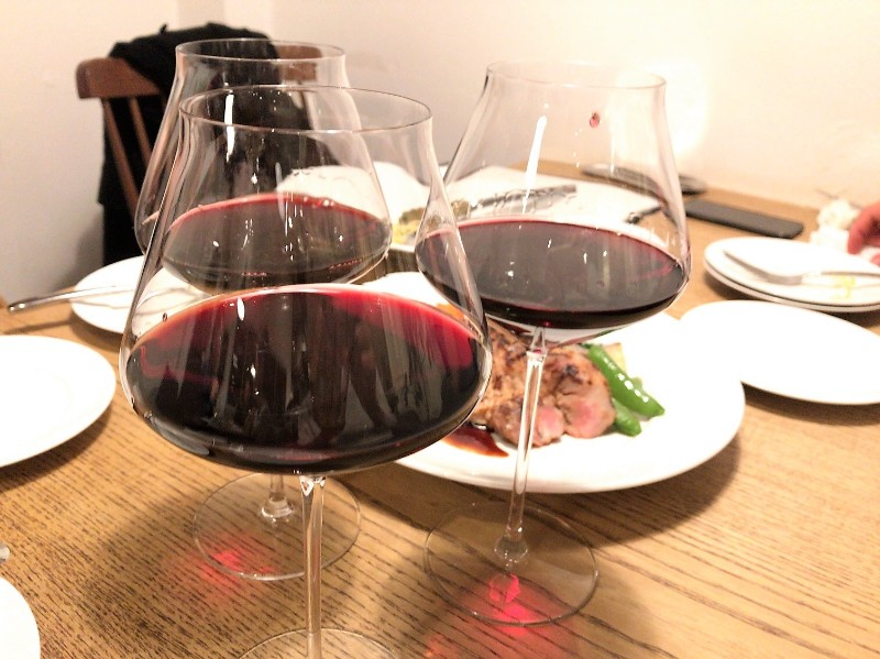 写真:糸島のレストラン noda 赤ワイン