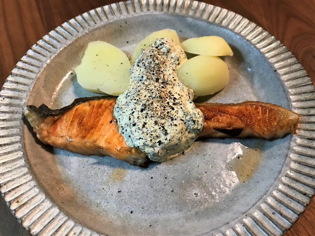 写真:鮭のソテー 青じそソース