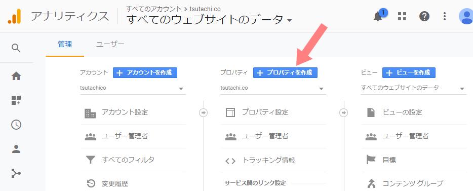 キャプチャ:Googleアナリティクス 管理画面