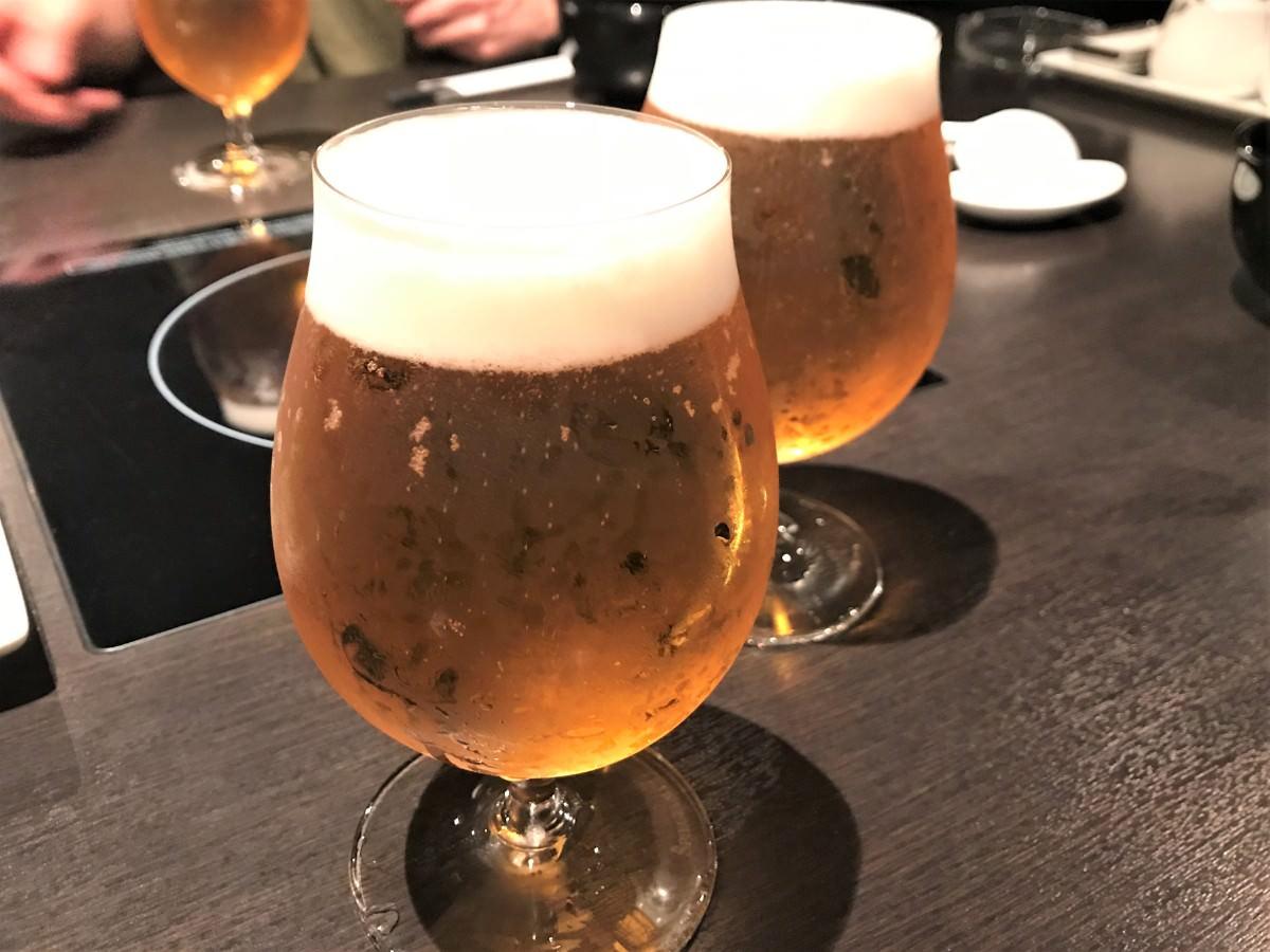 写真:博多もつ鍋 やま中 生ビール