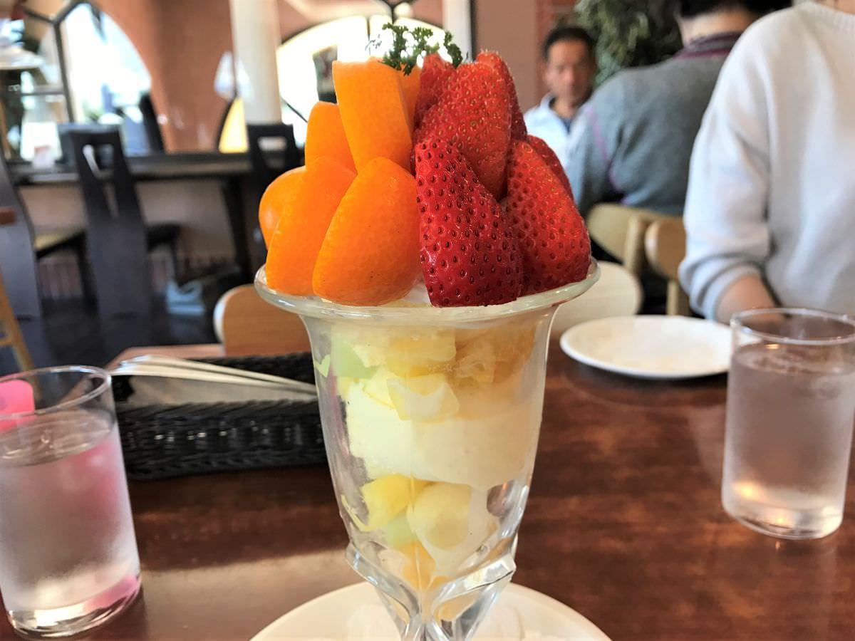 写真:佐賀 新SUN きんかんとイチゴのパフェ
