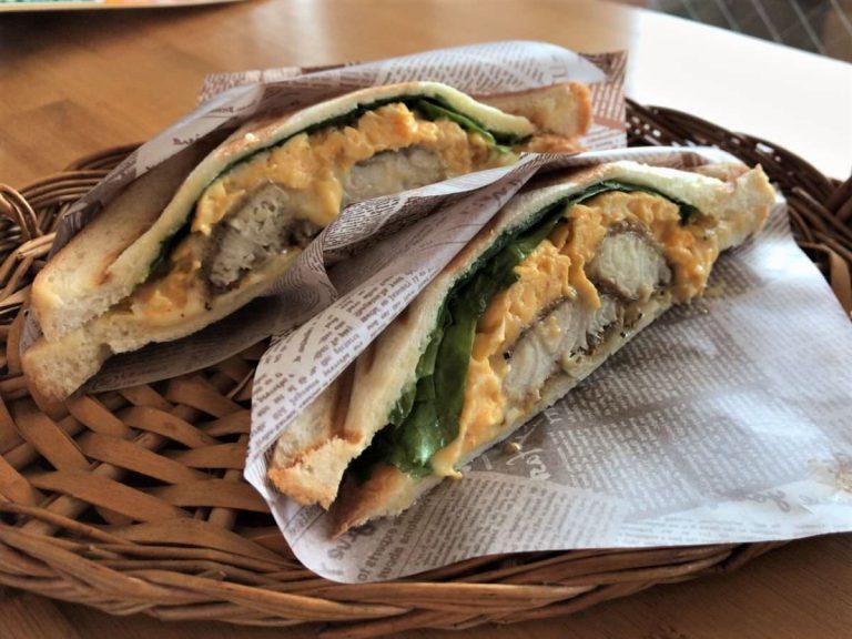写真:伊都ホットサンド笑顔 糸島鯛サンド