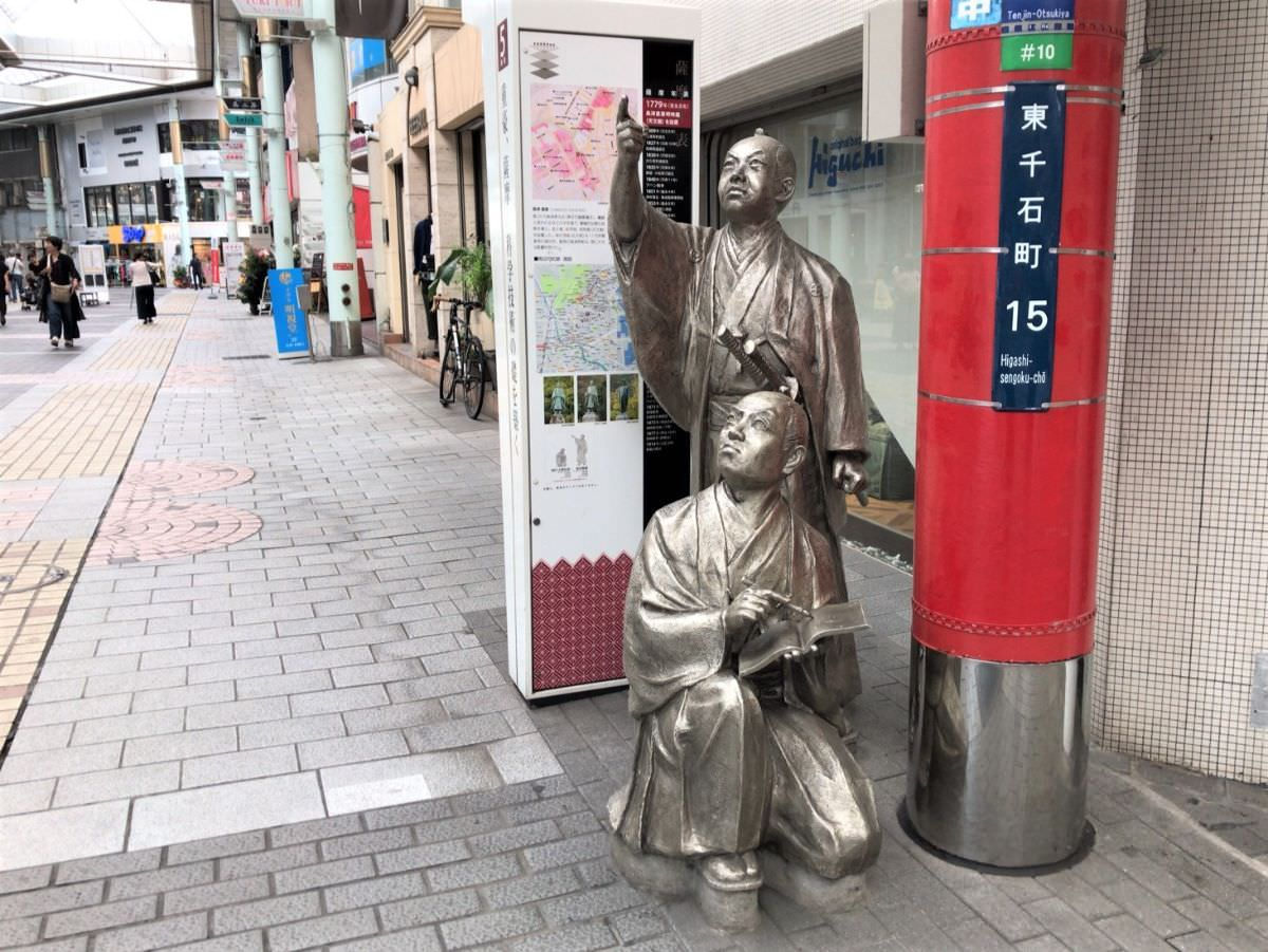 写真:鹿児島市内の銅像
