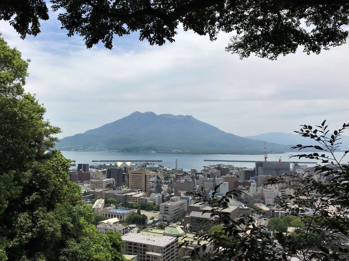 写真:鹿児島 城山展望台からの桜島