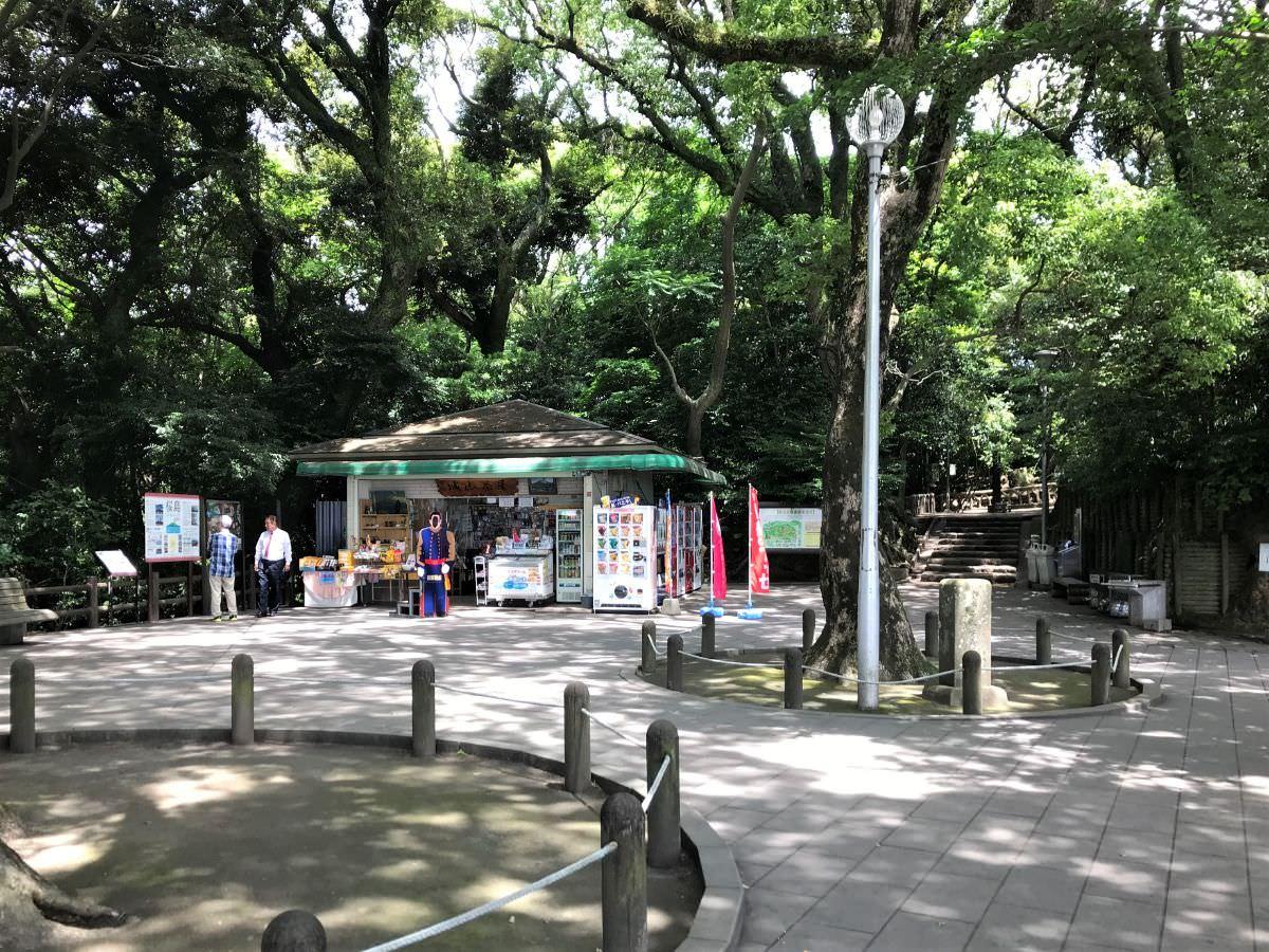 写真:鹿児島 城山展望台 広場