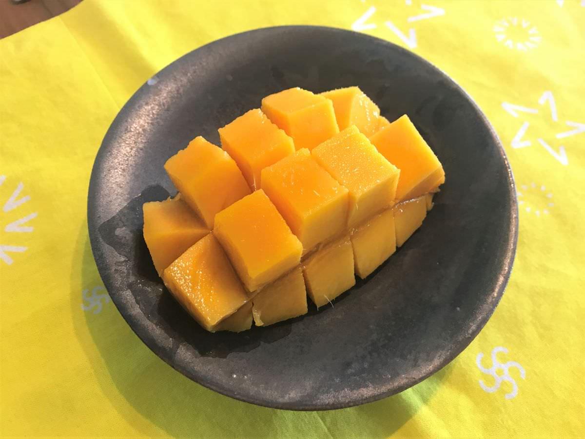 写真:宮崎産マンゴー カットしたもの