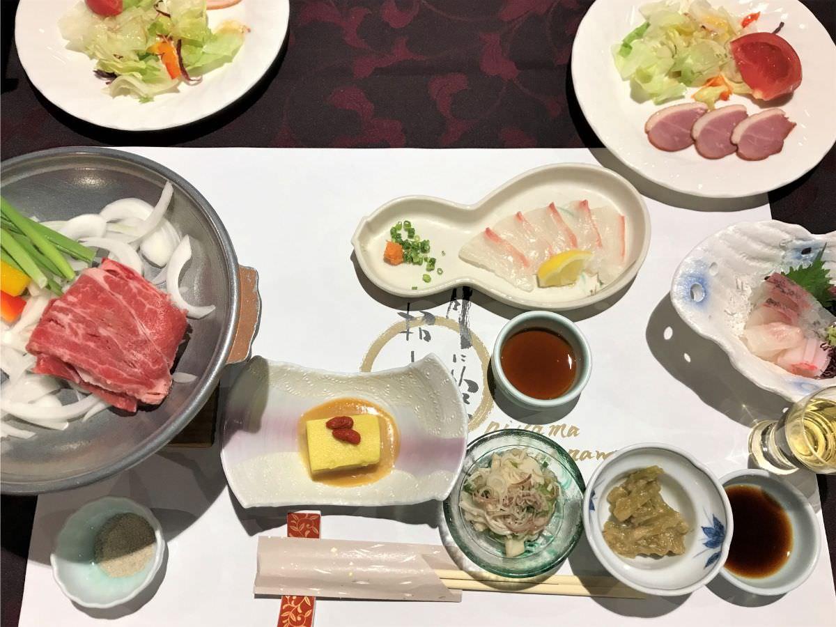 写真:ホテルおにやま 夕食