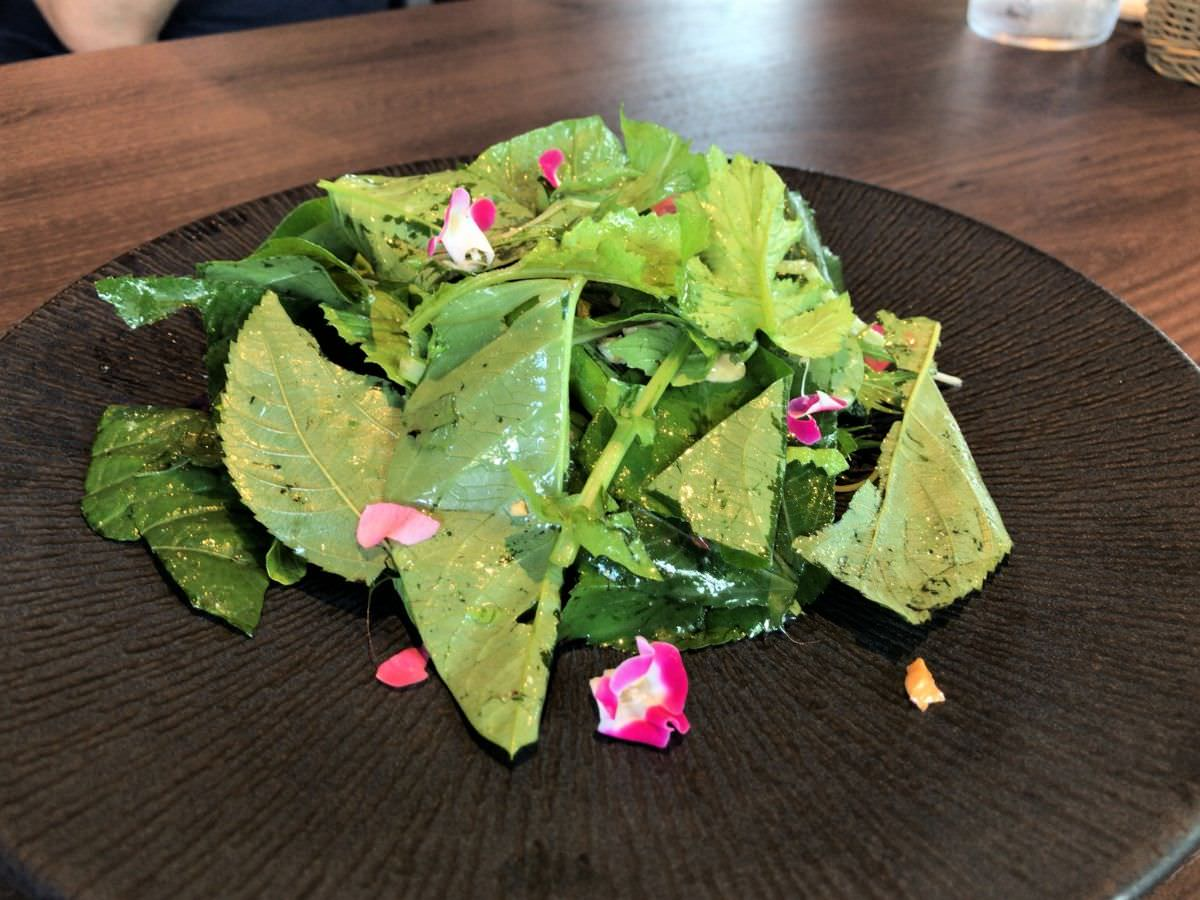 写真:糸島茶房 コースのグリーンサラダ