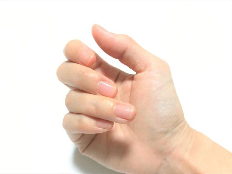 写真:爪を接着剤で補強しても目立たない