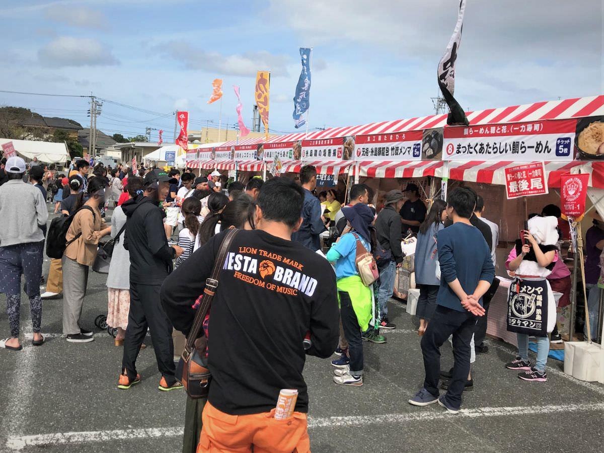 写真:糸島グルメグランプリ 会場の様子