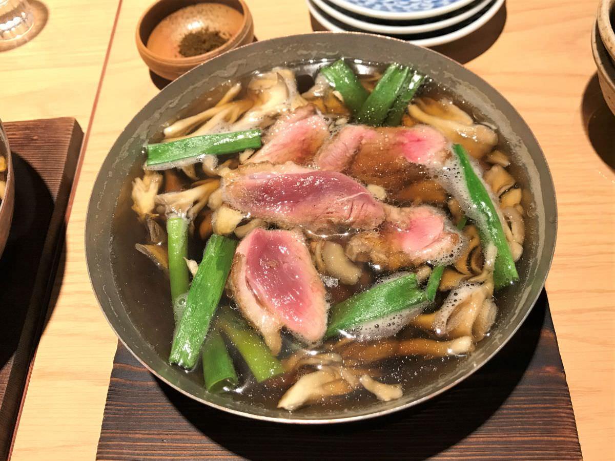 社員:東京 西荻窪 割烹熊谷 鴨と九条ネギの小鍋