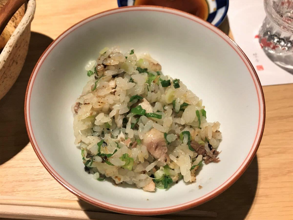 社員:東京 西荻窪 割烹熊谷 サンマと九条ネギの炊き込みご飯