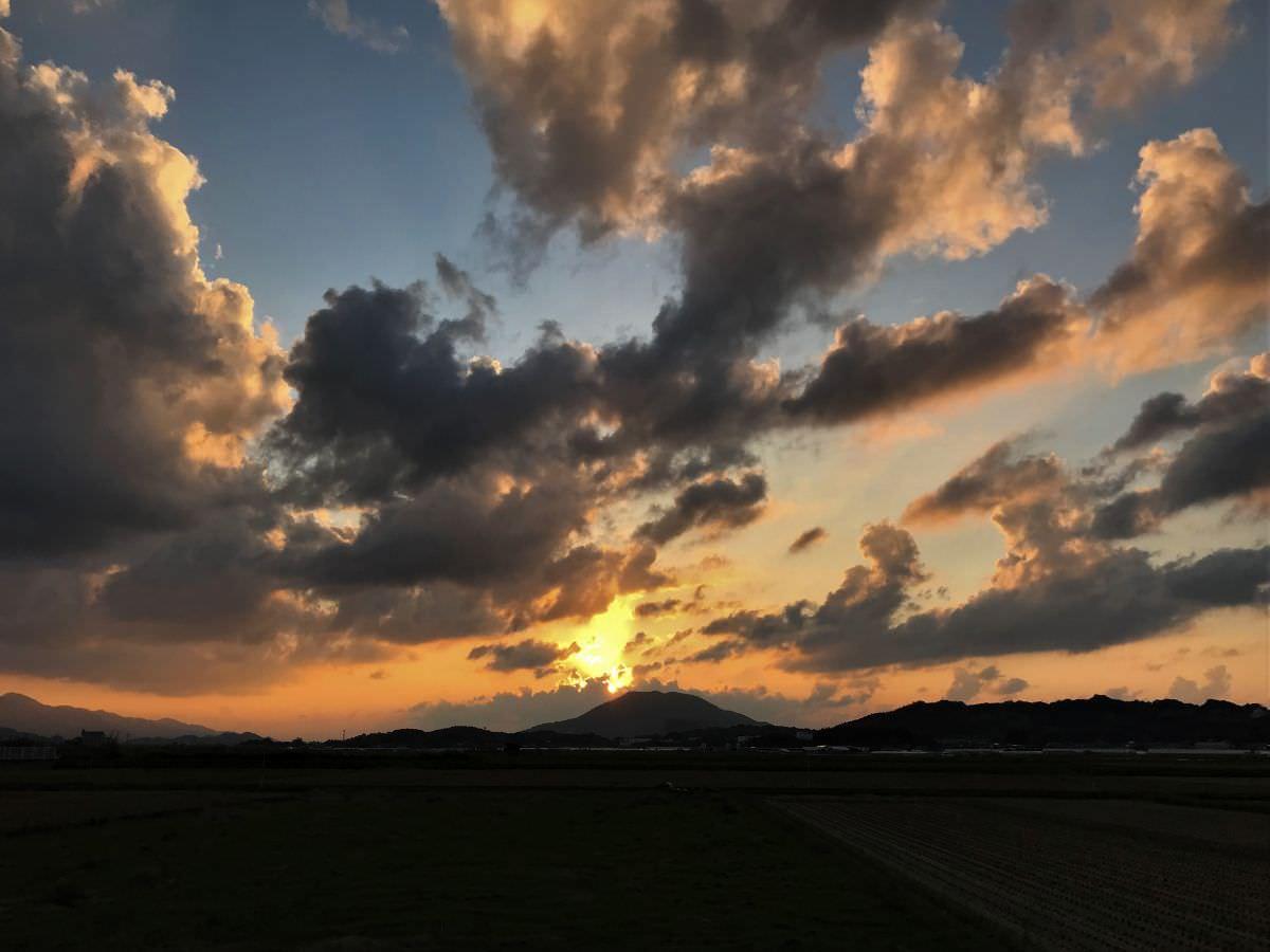 写真:糸島の夕焼け