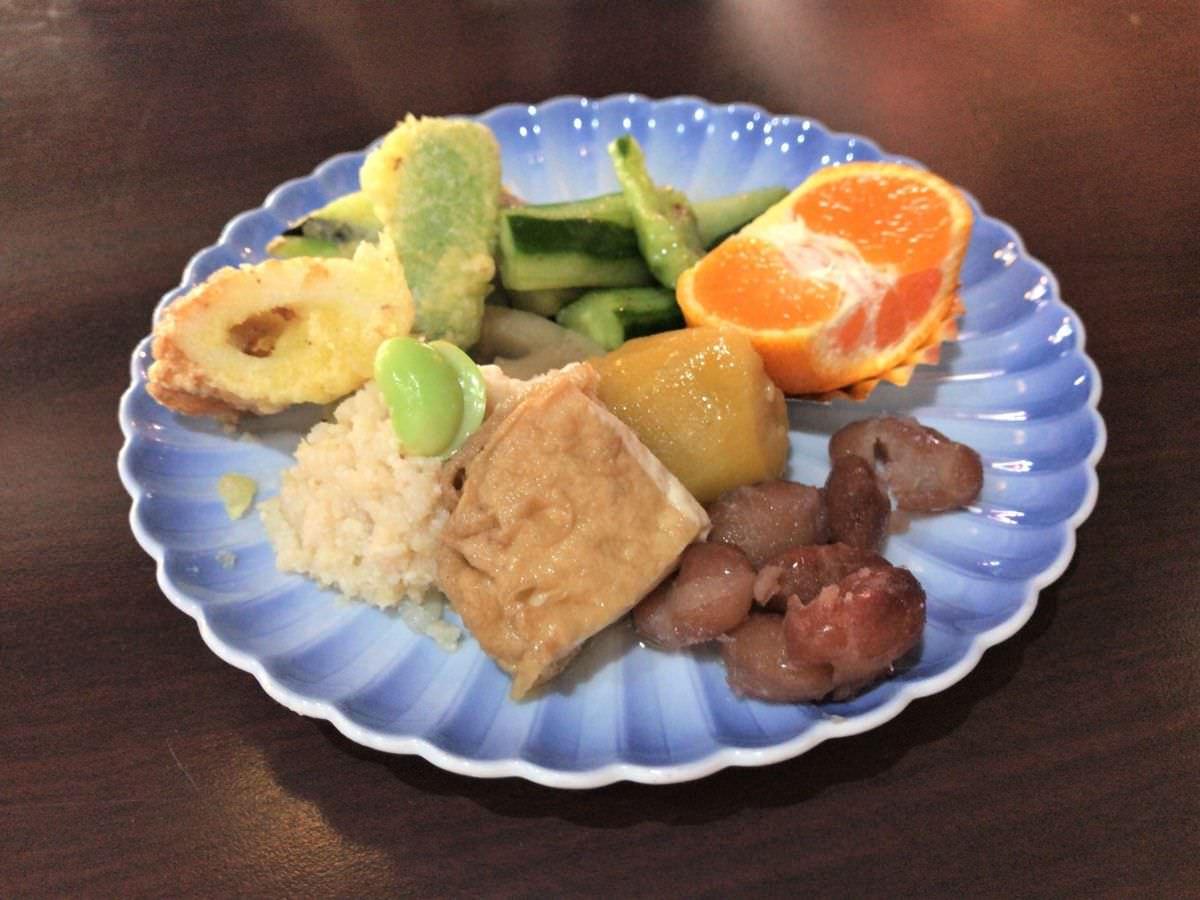 写真:福岡糸島 そば処山崎 ランチの前菜