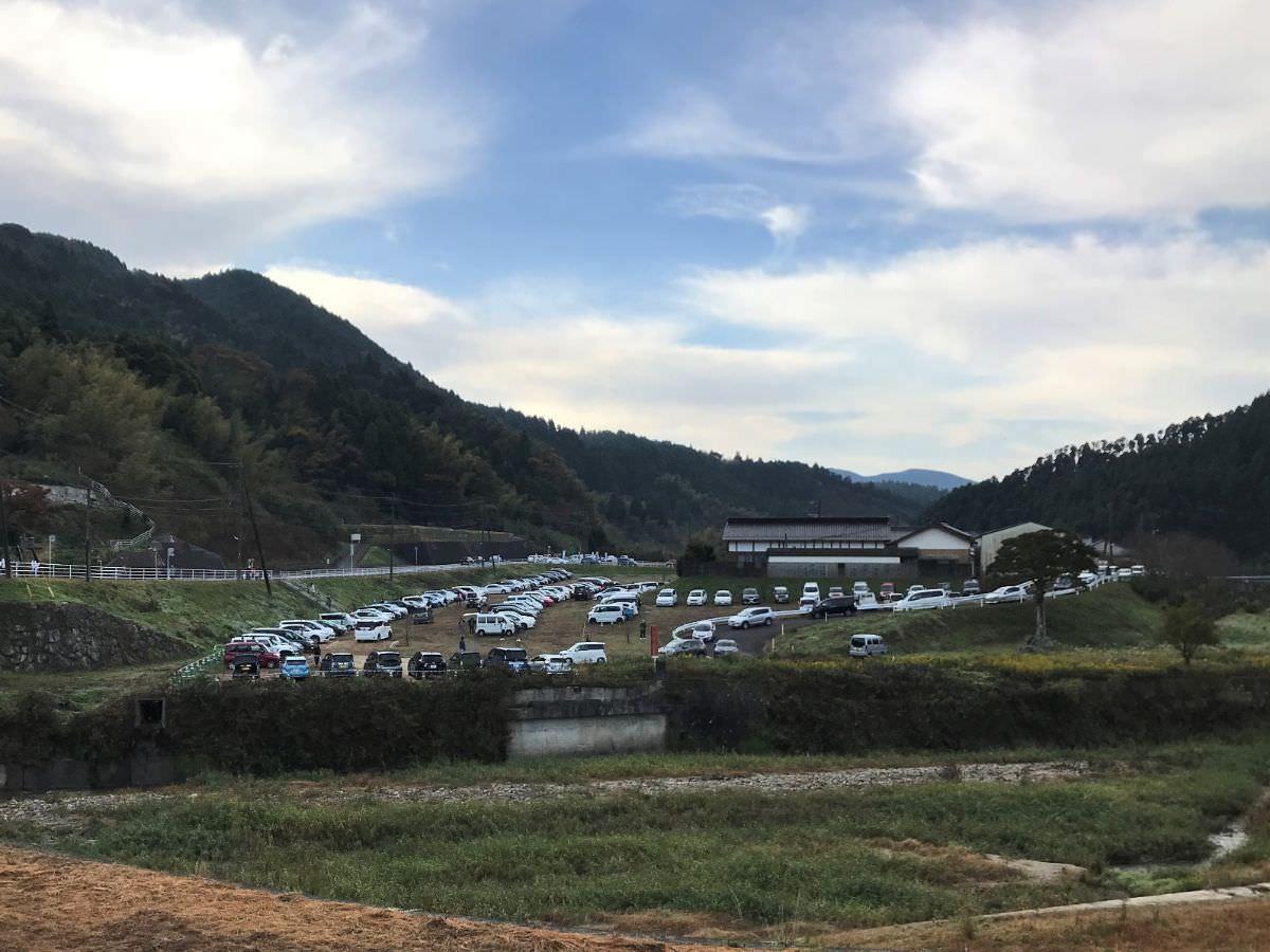写真:富士しゃくなげ湖ハーフマラソン  駐車場の様子