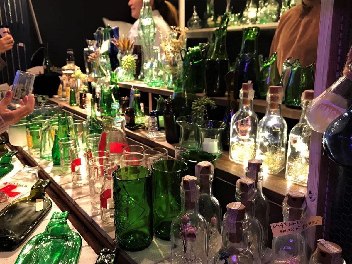 写真:福岡クリスマスマーケットin博多 ガラス瓶細工のお店