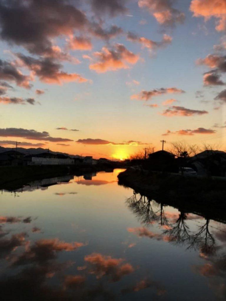 写真:糸島の夕暮れ