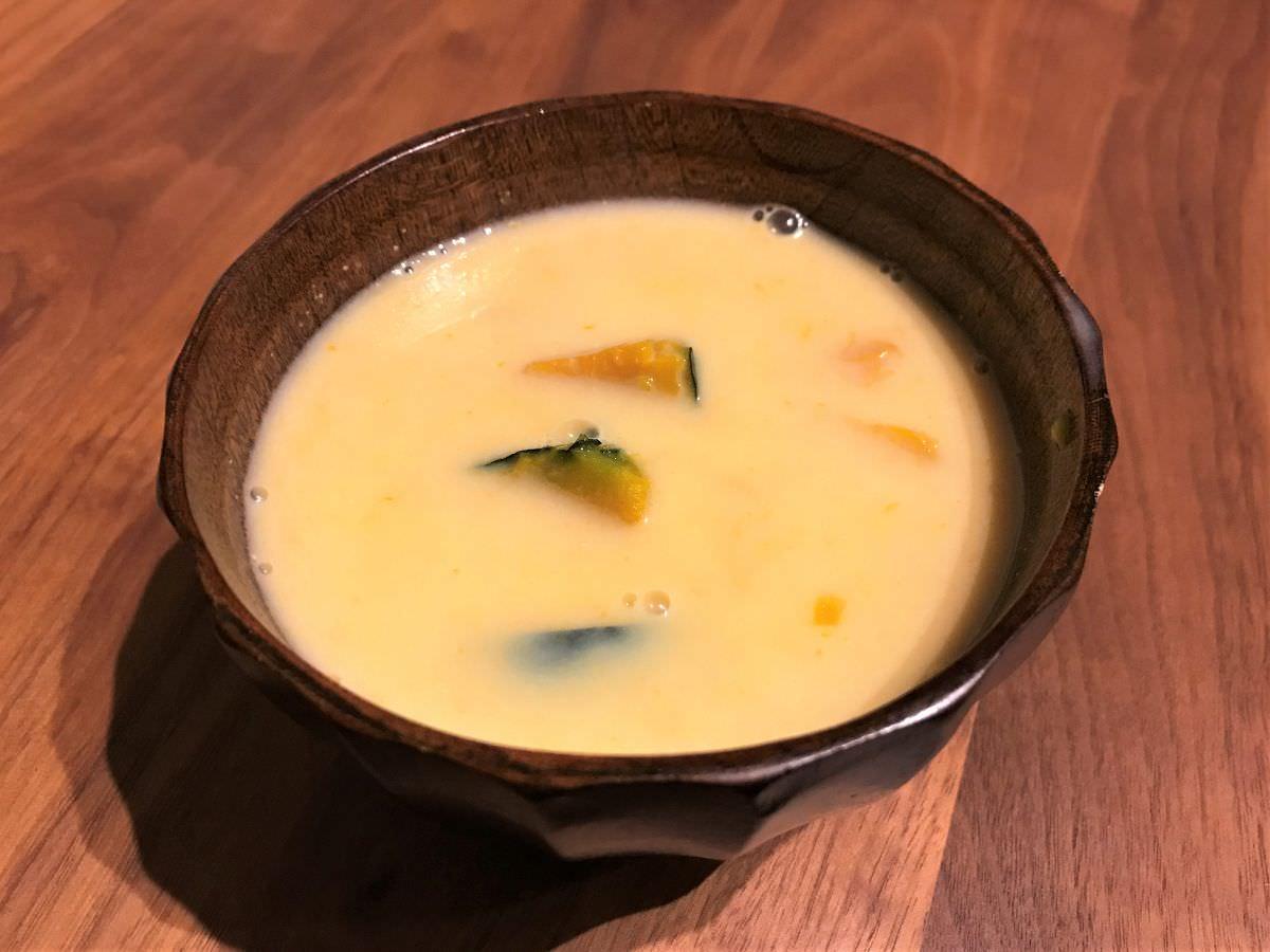 写真:かぼちゃのスープ