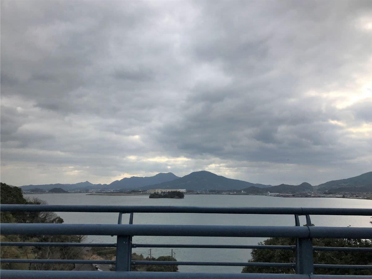 写真:伊万里ハーフマラソン 伊万里湾が見えます