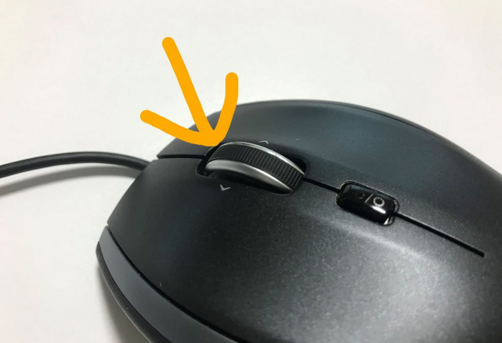 写真:マウスホイールがべたべたします。加水分解。