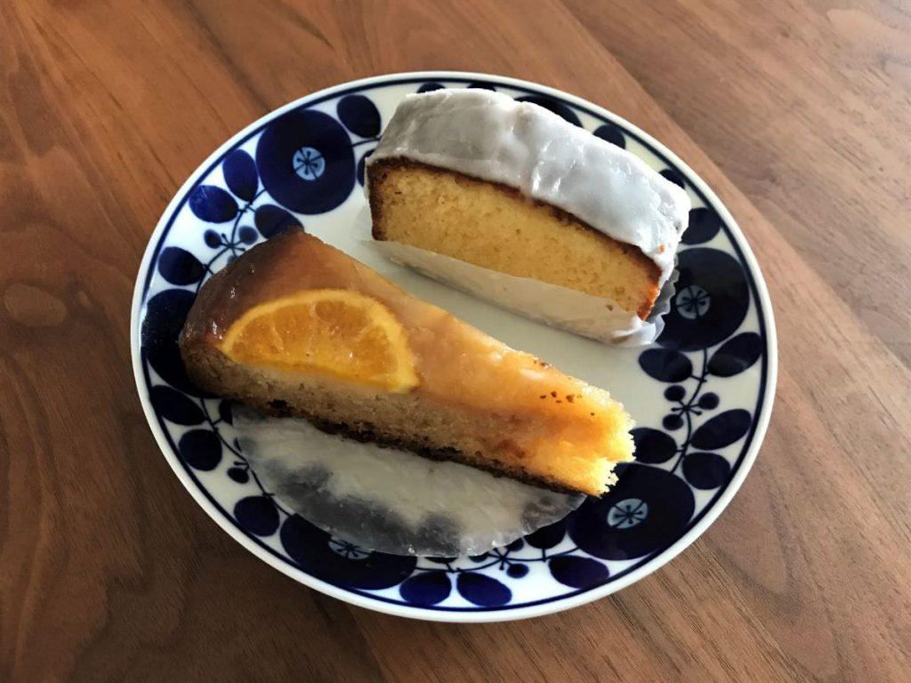 写真:福岡糸島 BENCH & MUG 究極のレモンケーキとオレンジアップサイドダウンケーキ