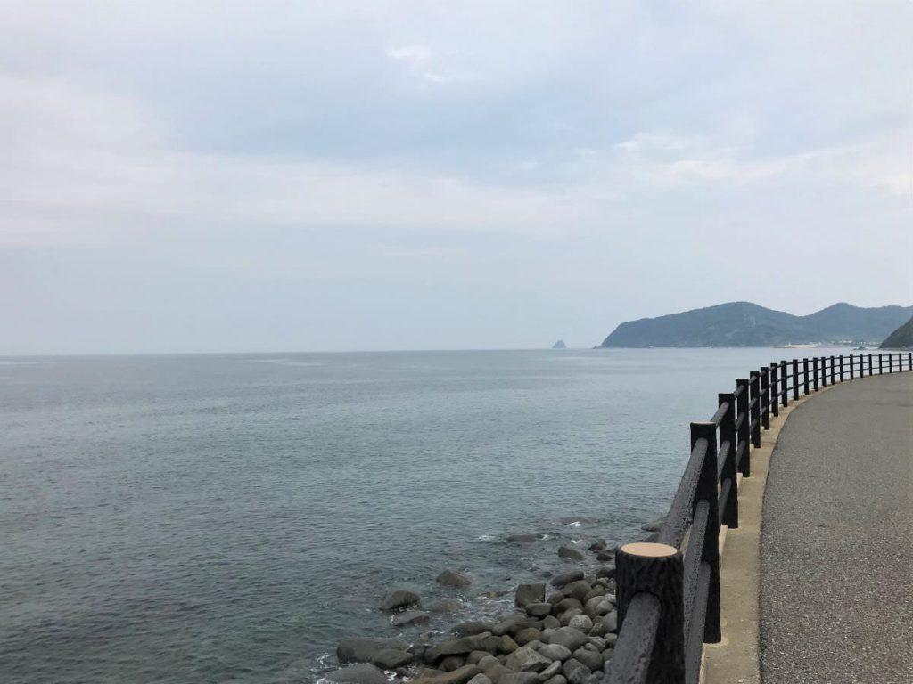 写真:11km地点の糸島の海