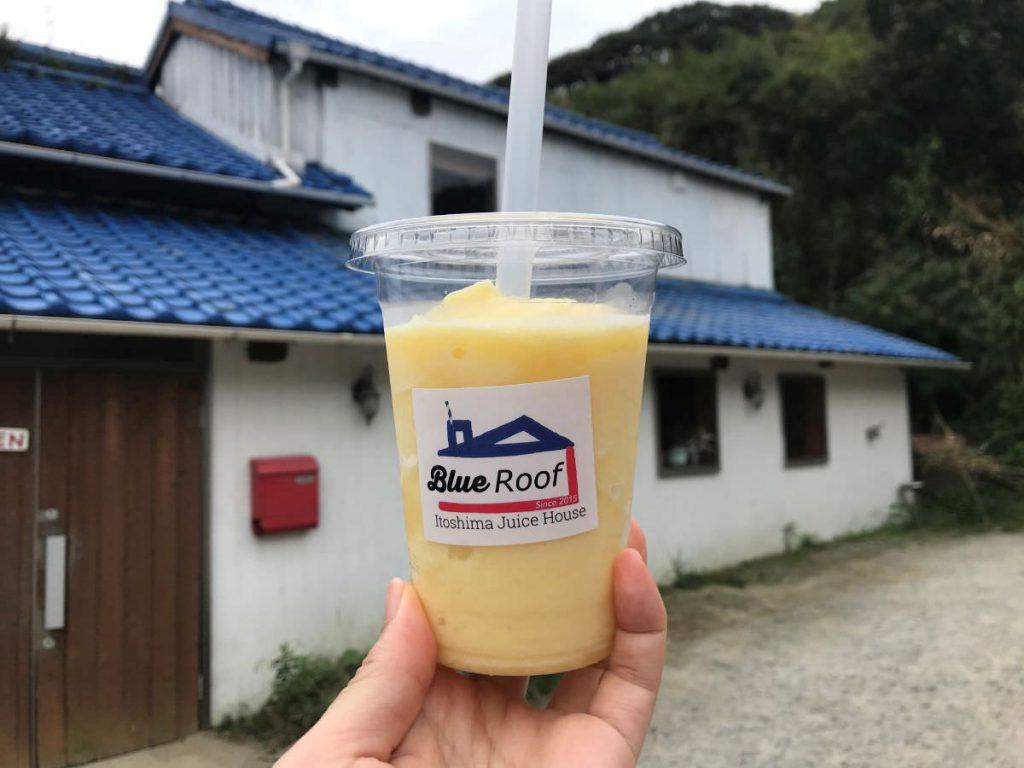 写真:福岡糸島 BlueRoofのパイナップルスムージー