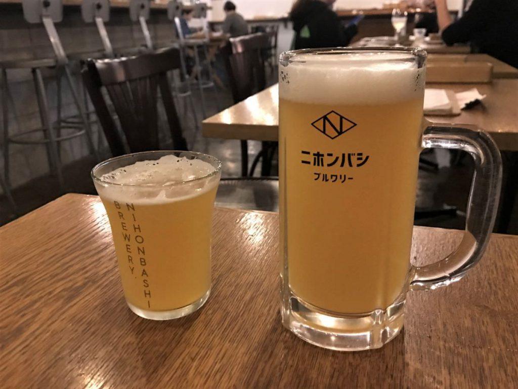 写真:東京日本橋 NIHONBASHI BREWERY. グラスSとMの差が激しい…