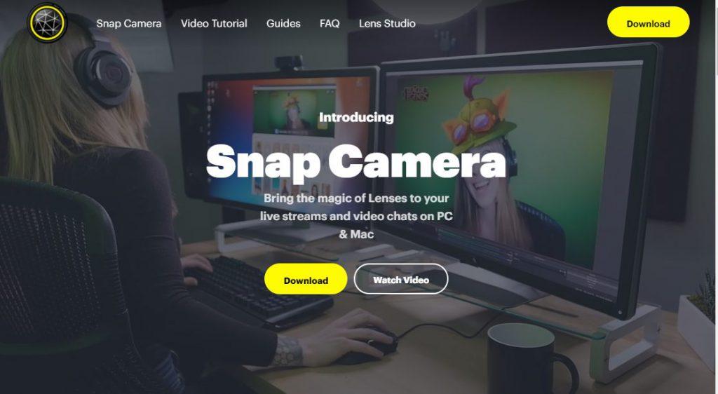 キャプチャ:Snap Camera ウェブサイト