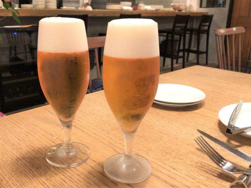 写真:福岡糸島noda ビールで乾杯