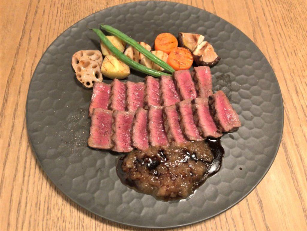写真:福岡糸島noda 糸島産牛肉のグリル