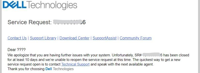 キャプチャ:DELLサポートからのメール返信