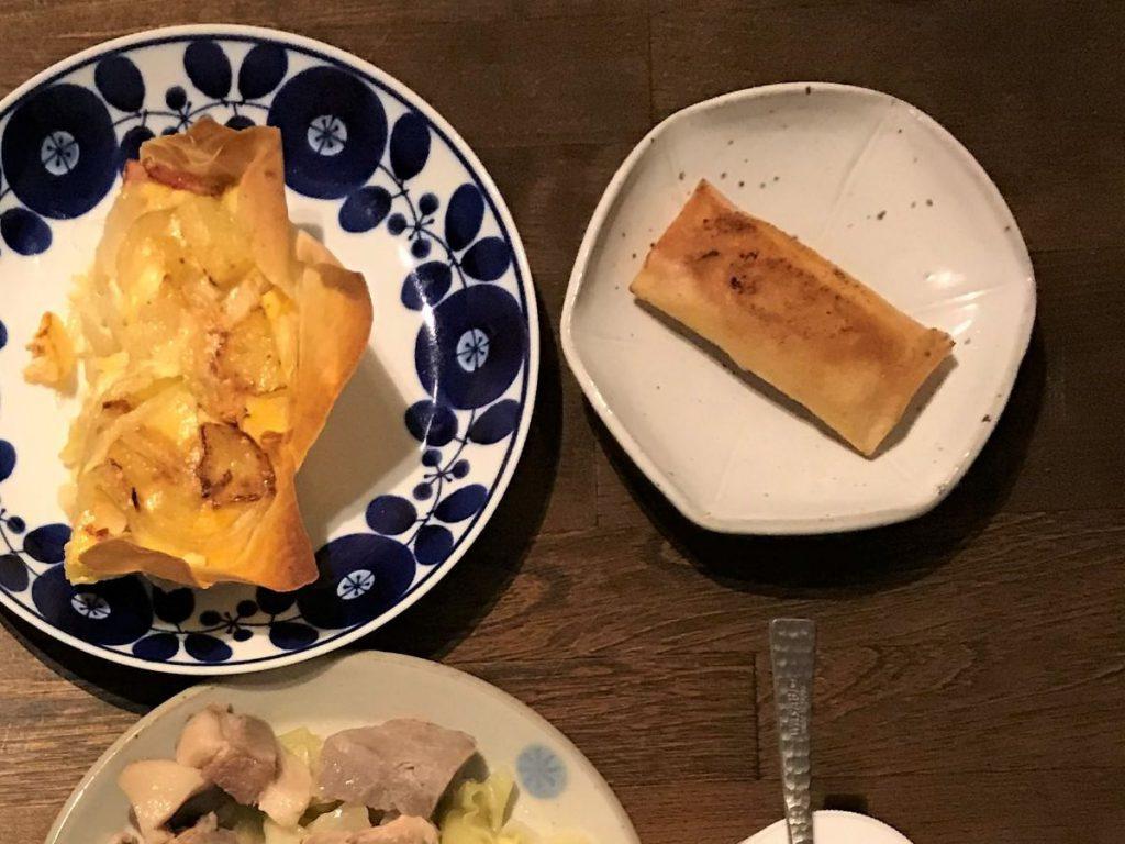 写真:きんとんとクリームチーズの春巻き