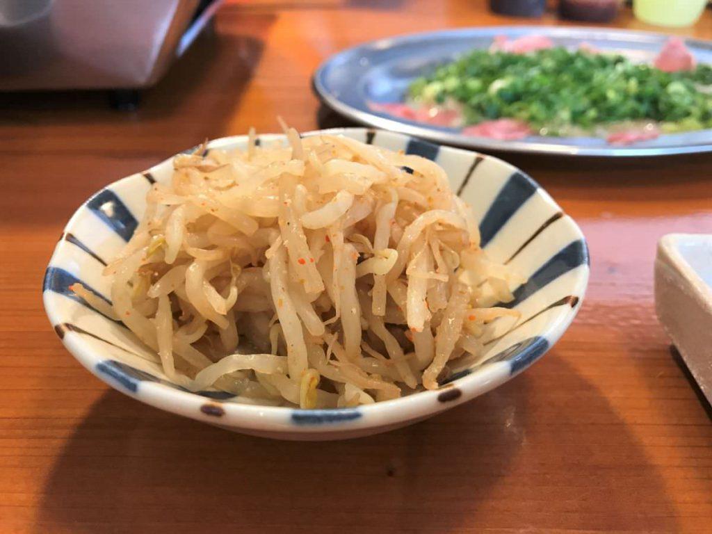 写真:福岡糸島 大衆焼肉やまにく もやしナムル