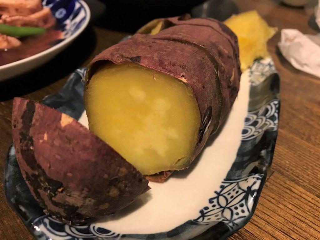 写真:スーパーの焼き芋 大分産甘太くん