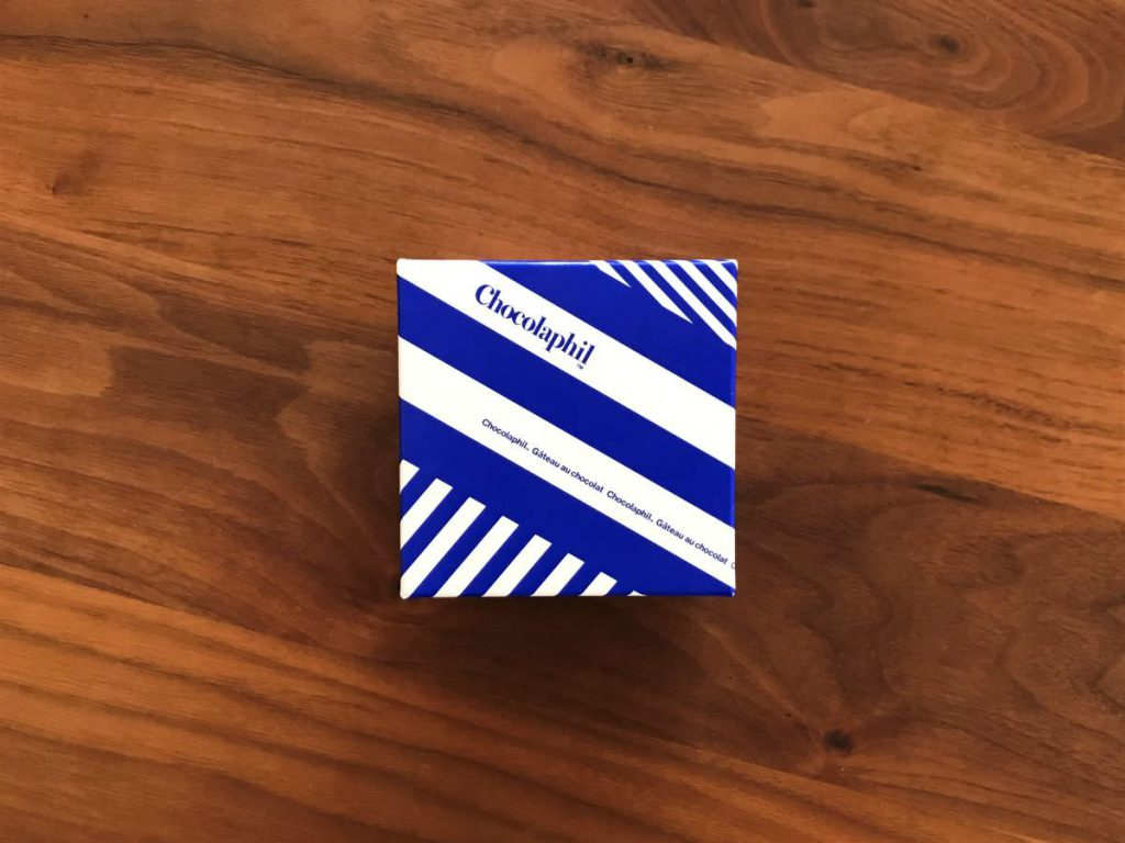 写真:Chocolaphil ガトーショコラ キューブのパッケージ