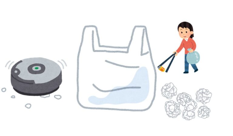イラスト:レジ袋活用のイメージ