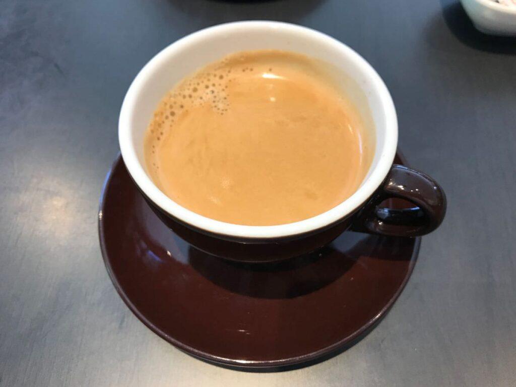 写真:唐津KARAE TABLE ランチのセットドリンクにホットコーヒーをもらいました