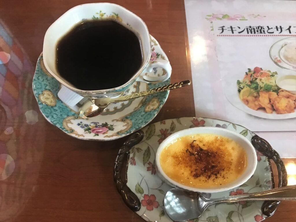 写真:福岡市西区 レストラン加里部 デザートとホットコーヒー