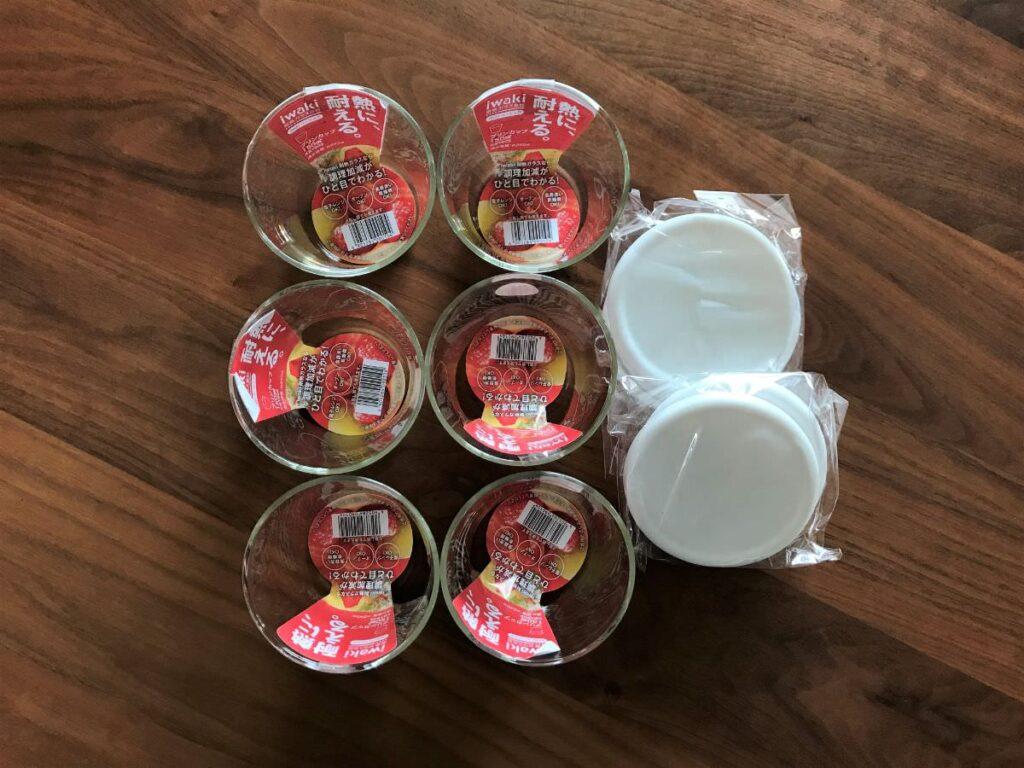 写真:イワキ耐熱ガラスプリンカップ6個セットを買いました