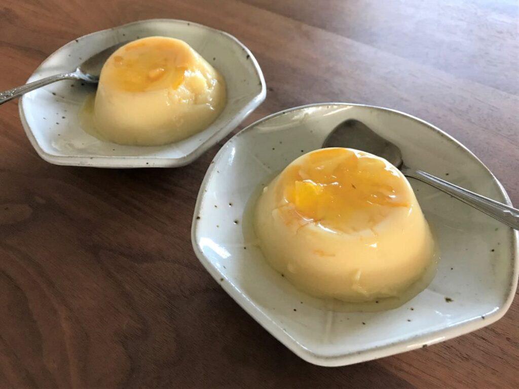 写真:オレンジと豆乳のゼリー